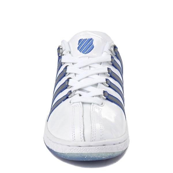 alternate view Womens K-Swiss Classic VN Premium Athletic Shoe - White / Silver / NavyALT4