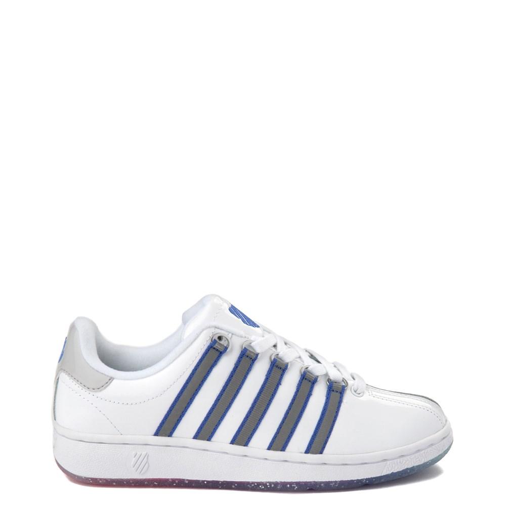 Womens K-Swiss Classic VN Premium Athletic Shoe - White / Silver / Navy