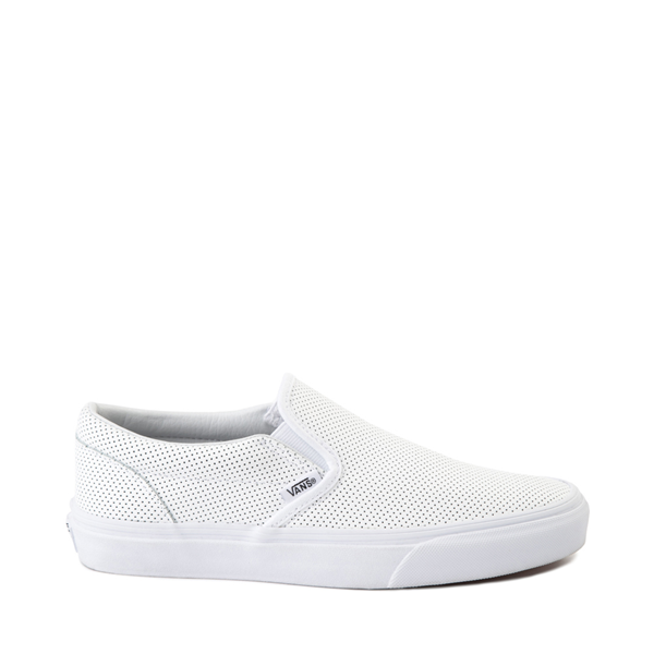 Main view of Vans Slip On Leather Perf Skate Shoe - White