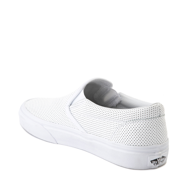 alternate view Vans Slip On Leather Perf Skate Shoe - WhiteALT1