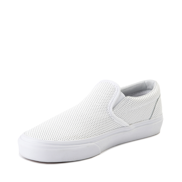 alternate view Vans Slip On Leather Perf Skate Shoe - WhiteALT2