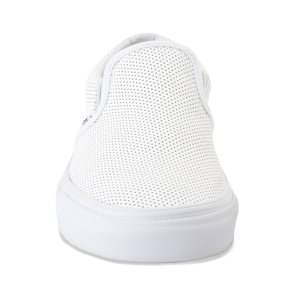 alternate view Vans Slip On Leather Perf Skate Shoe - WhiteALT4