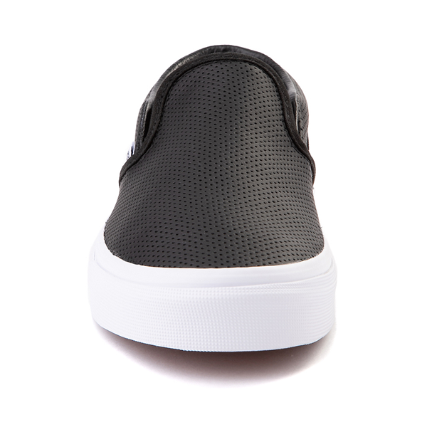 alternate view Vans Slip On Leather Perf Skate Shoe - BlackALT4