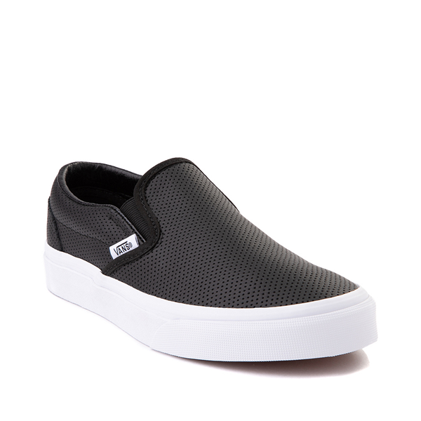 alternate view Vans Slip On Leather Perf Skate Shoe - BlackALT5