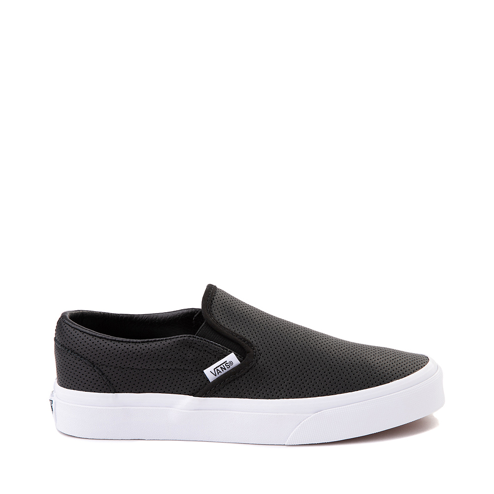 Vans Slip On Leather Perf Skate Shoe - Black