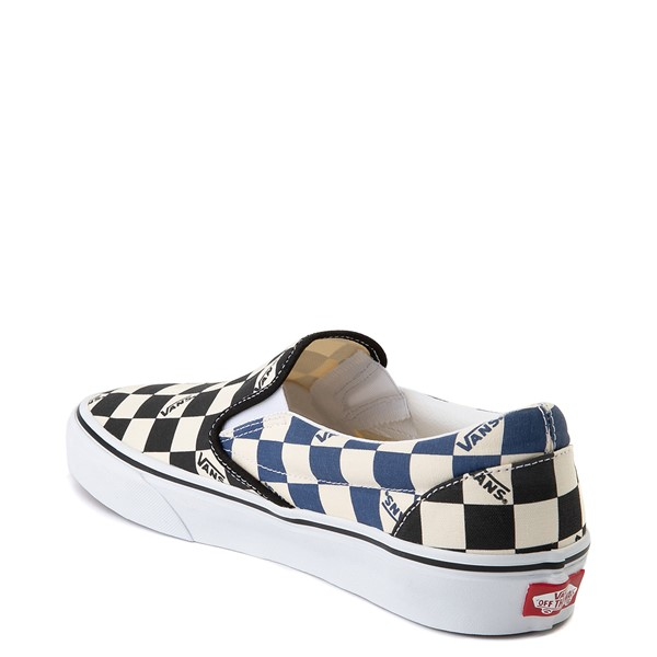 alternate view Vans Slip On Big Checkerboard Skate Shoe - Black / Blue / WhiteALT1