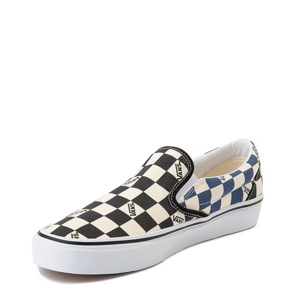 alternate view Vans Slip On Big Checkerboard Skate Shoe - Black / Blue / WhiteALT2
