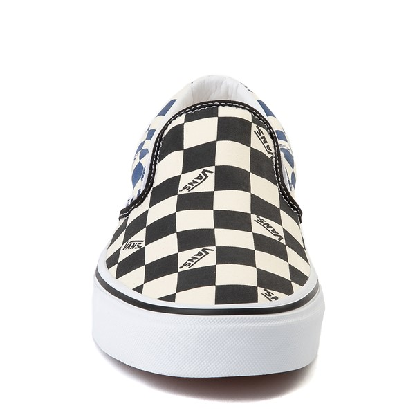 alternate view Vans Slip On Big Checkerboard Skate Shoe - Black / Blue / WhiteALT4