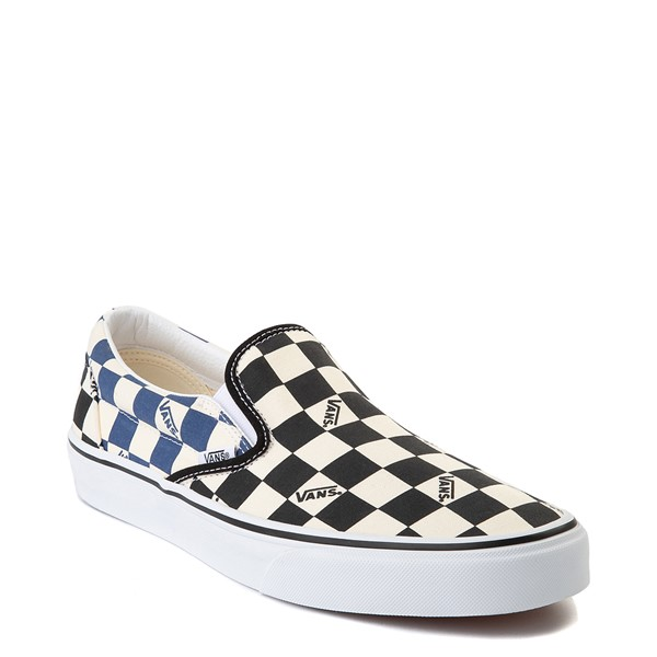 alternate view Vans Slip On Big Checkerboard Skate Shoe - Black / Blue / WhiteALT5