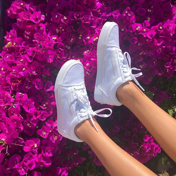 alternate view Vans Old Skool Skate Shoe - White MonochromeALT1B