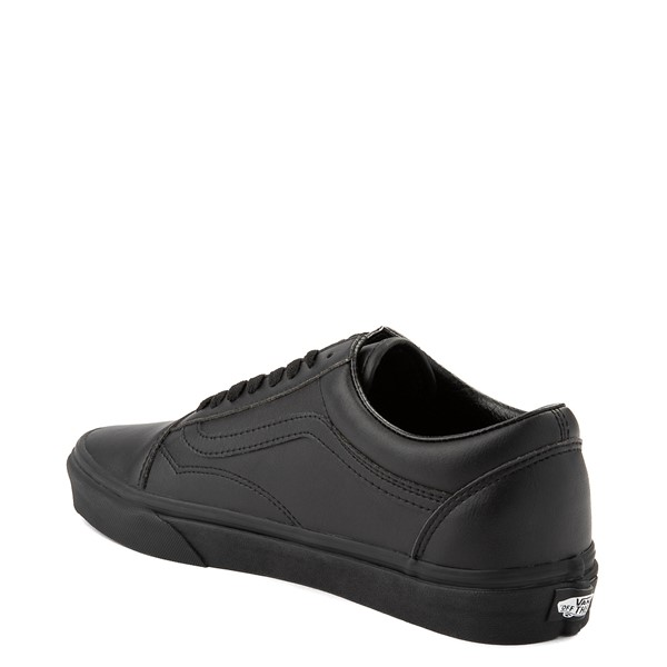 alternate view Vans Old Skool Leather Skate Shoe - Black MonochromeALT1