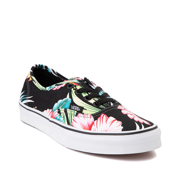 alternate view Vans Authentic Hawaiian Floral Skate Shoe - BlackALT5