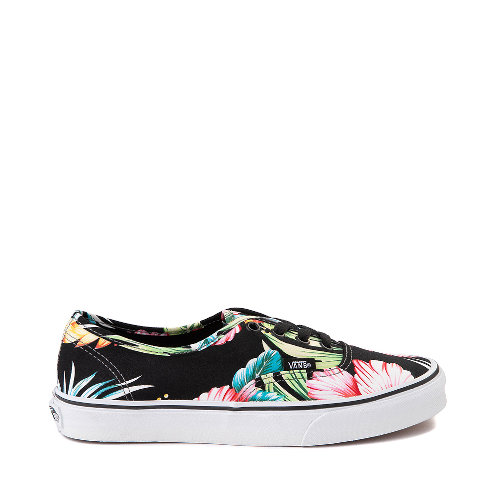 Vans Authentic Hawaiian Floral Skate Shoe - Black