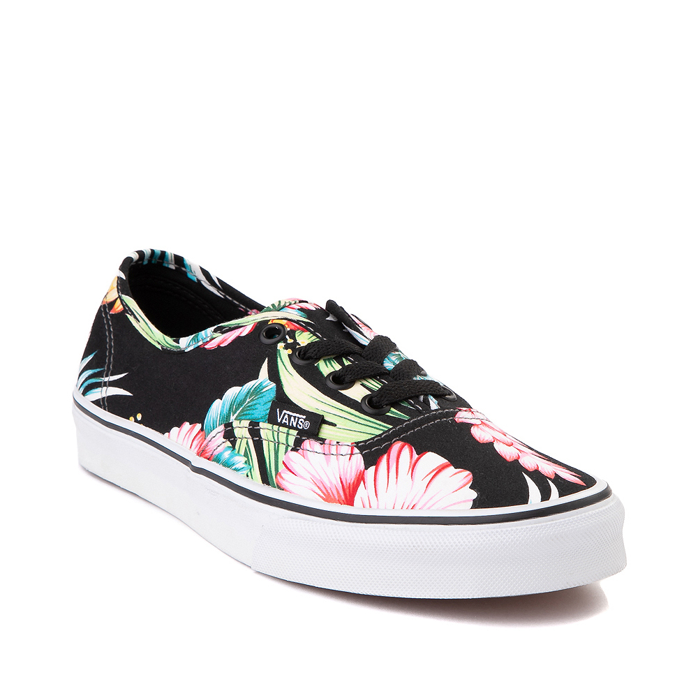 Vans Authentic Hawaiian Floral Skate Shoe - Black