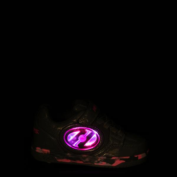 alternate view Heelys Plus X2 Skate Shoe - Little Kid / Big Kid - Charcoal / Fuchsia / PurpleALT1