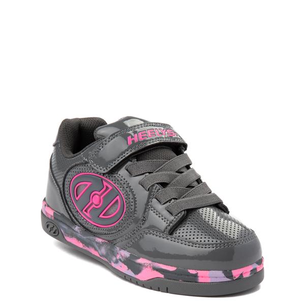 alternate view Heelys Plus X2 Skate Shoe - Little Kid / Big Kid - Charcoal / Fuchsia / PurpleALT1B