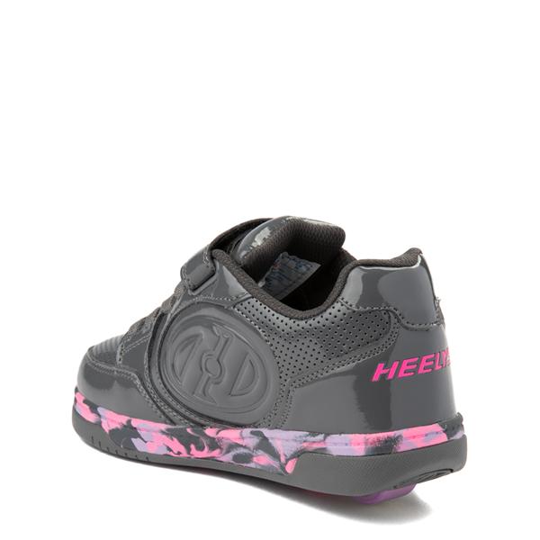 alternate view Heelys Plus X2 Skate Shoe - Little Kid / Big Kid - Charcoal / Fuchsia / PurpleALT2