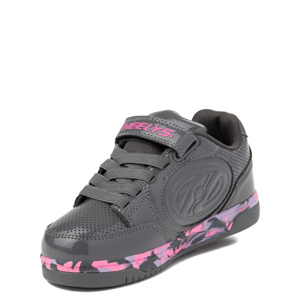 alternate view Heelys Plus X2 Skate Shoe - Little Kid / Big Kid - Charcoal / Fuchsia / PurpleALT3