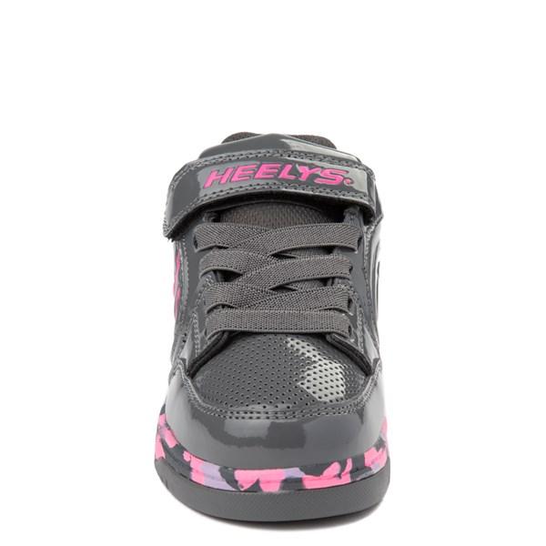alternate view Heelys Plus X2 Skate Shoe - Little Kid / Big Kid - Charcoal / Fuchsia / PurpleALT4