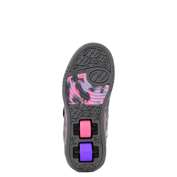 alternate view Heelys Plus X2 Skate Shoe - Little Kid / Big Kid - Charcoal / Fuchsia / PurpleALT5