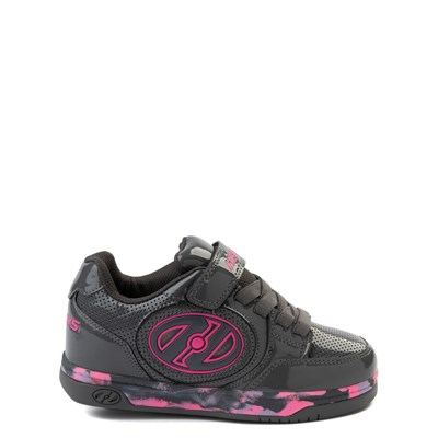 Main view of Heelys Plus X2 Skate Shoe - Little Kid / Big Kid - Charcoal / Fuchsia / Purple