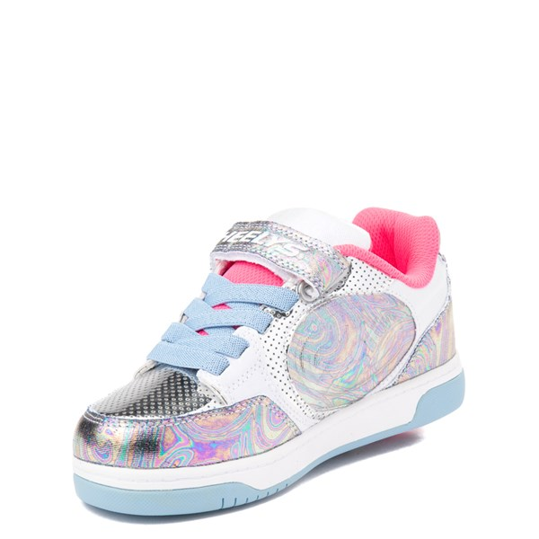 alternate view Heelys Plus X2 Skate Shoe - Little Kid / Big Kid - Silver / Blue / PinkALT3