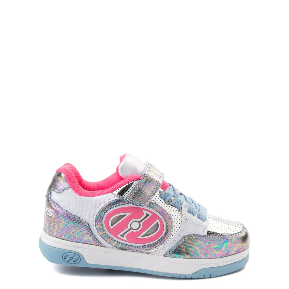 Heelys Plus X2 Skate Shoe - Little Kid / Big Kid - Silver / Blue / Pink