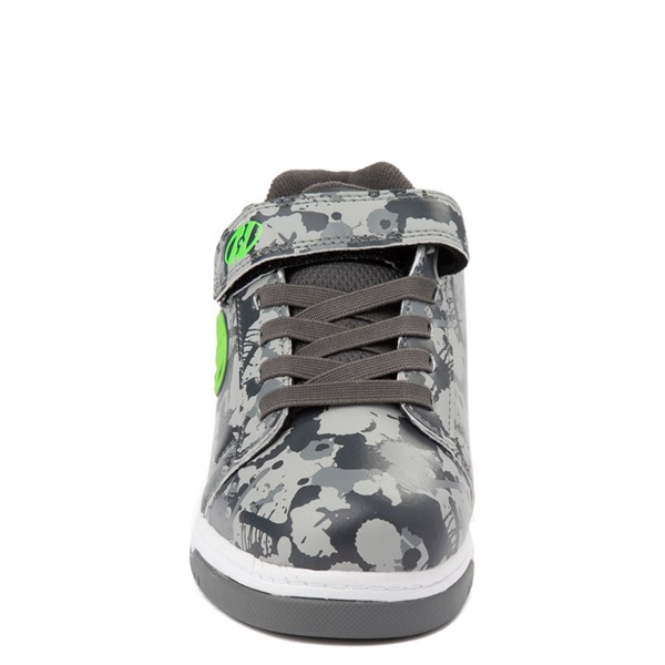 alternate view Heelys Dual Up X2 Skate Shoe - Little Kid / Big Kid - Gray Camo / Bright GreenALT4