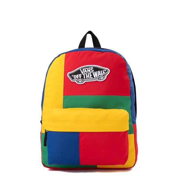 Main view of Vans Realm Patchy Backpack - Multicolor