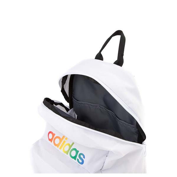 alternate view adidas National Mini Backpack - White / MulticolorALT3