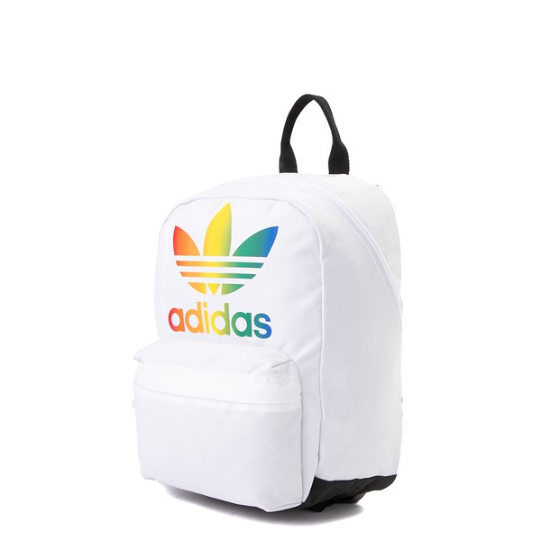 alternate view adidas National Mini Backpack - White / MulticolorALT4