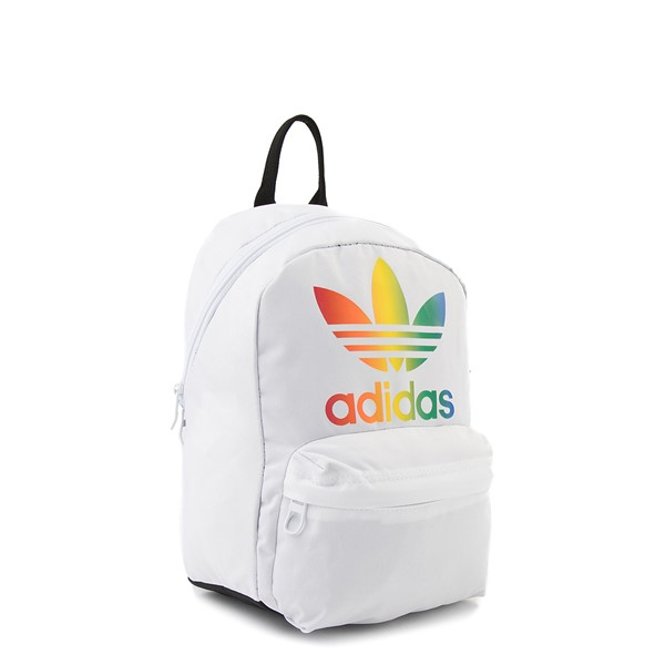 alternate view adidas National Mini Backpack - White / MulticolorALT4B
