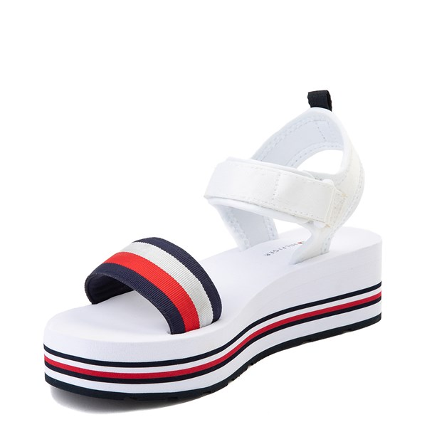 alternate view Womens Tommy Hilfiger Ansley Platform Sandal - WhiteALT3