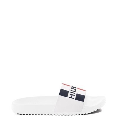 Main view of Mens Tommy Hilfiger Romey Slide Sandal - White