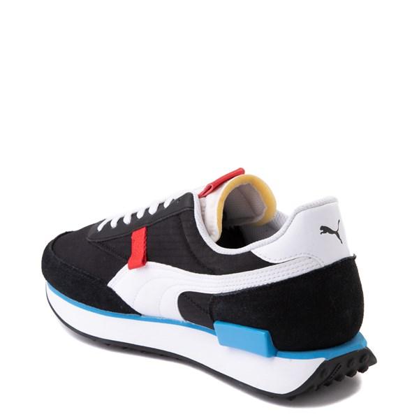 alternate view Mens Puma Future Rider Play On Athletic Shoe - Black /  White / RedALT2
