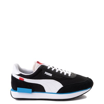 Main view of Mens Puma Future Rider Play On Athletic Shoe - Black /  White / Red