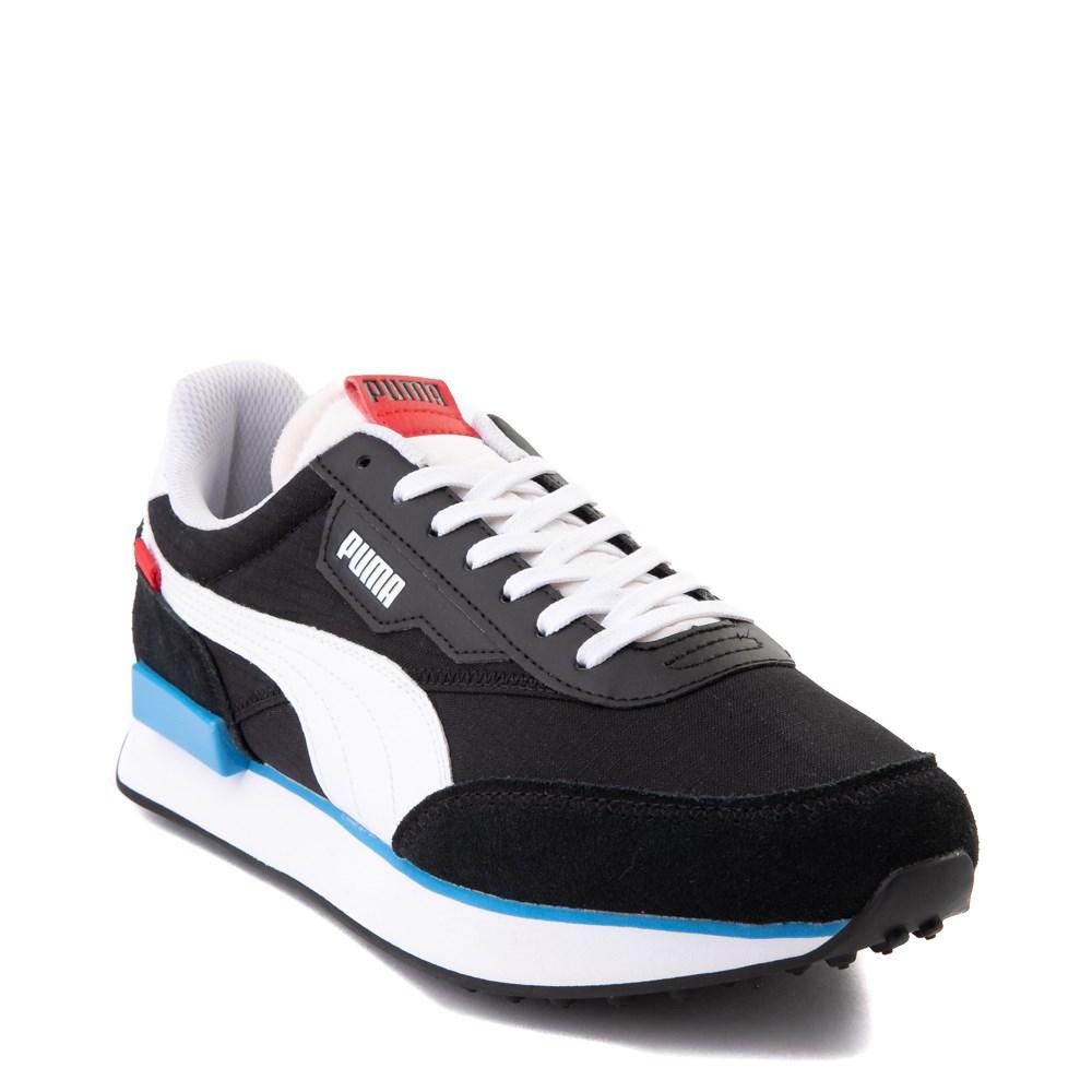 Mens Puma Future Rider Play On Athletic Shoe - Black / White / Red