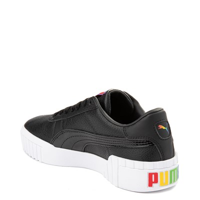 Alternate view of Womens Puma Cali Fashion Athletic Shoe - Black / White