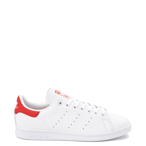 Mens adidas Stan Smith Athletic Shoe - White / Red