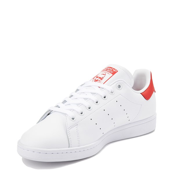 alternate view Mens adidas Stan Smith Athletic Shoe - White / RedALT2