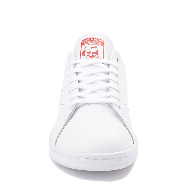 alternate view Mens adidas Stan Smith Athletic Shoe - White / RedALT4