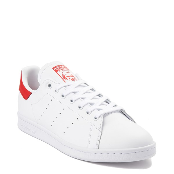 alternate view Mens adidas Stan Smith Athletic Shoe - White / RedALT5