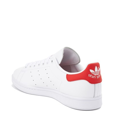 Alternate view of Mens adidas Stan Smith Athletic Shoe - White / Red