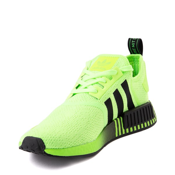 alternate view Mens adidas NMD R1 Athletic Shoe - Signal Green / Black FadeALT2