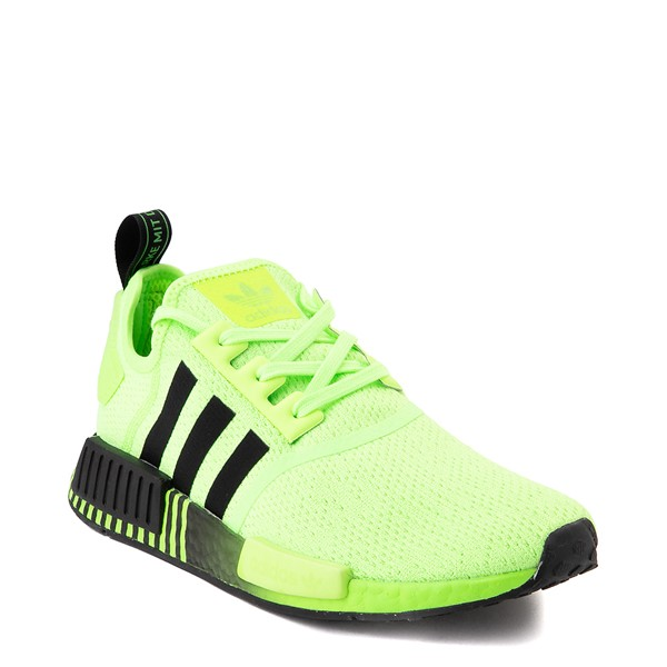 alternate view Mens adidas NMD R1 Athletic Shoe - Signal Green / Black FadeALT5