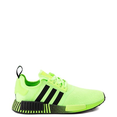 Main view of Mens adidas NMD R1 Athletic Shoe - Signal Green / Black Fade