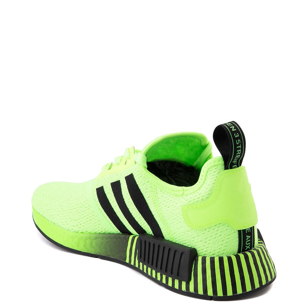Mens Adidas Nmd R1 Athletic Shoe Signal Green Black Fade