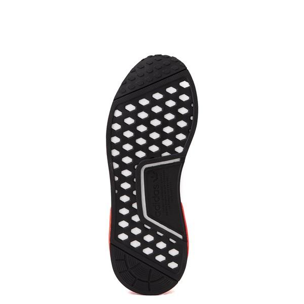 alternate view Mens adidas NMD R1 Athletic Shoe - White / Solar Red / Black FadeALT3