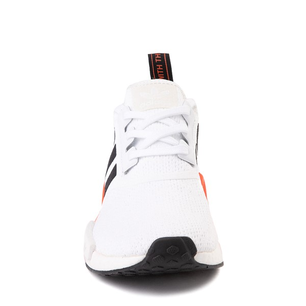 alternate view Mens adidas NMD R1 Athletic Shoe - White / Solar Red / Black FadeALT4