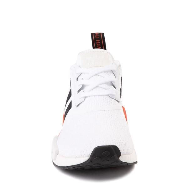 alternate view Mens adidas NMD R1 Athletic Shoe - White / Solar Red / Black FadeALT4